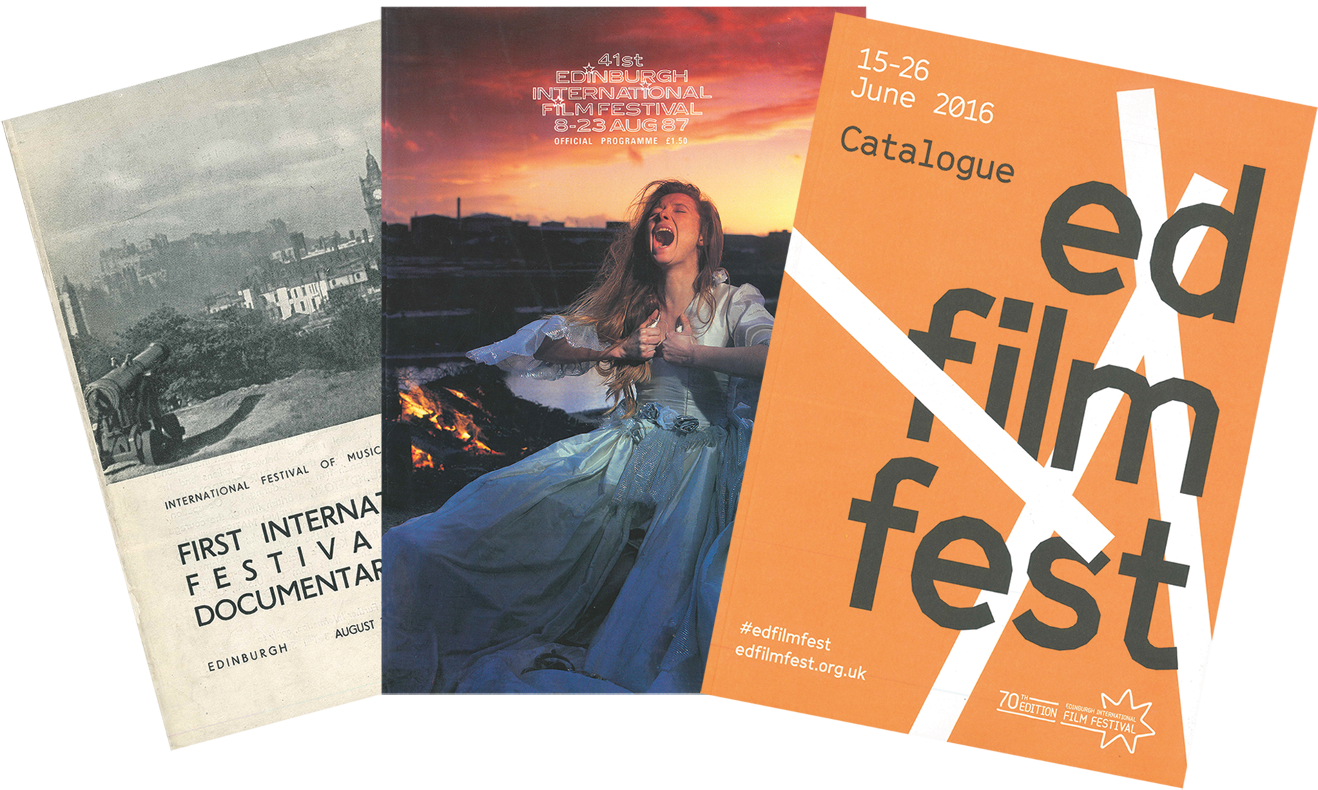 EIFF covers from 1947, 1987 and 2016