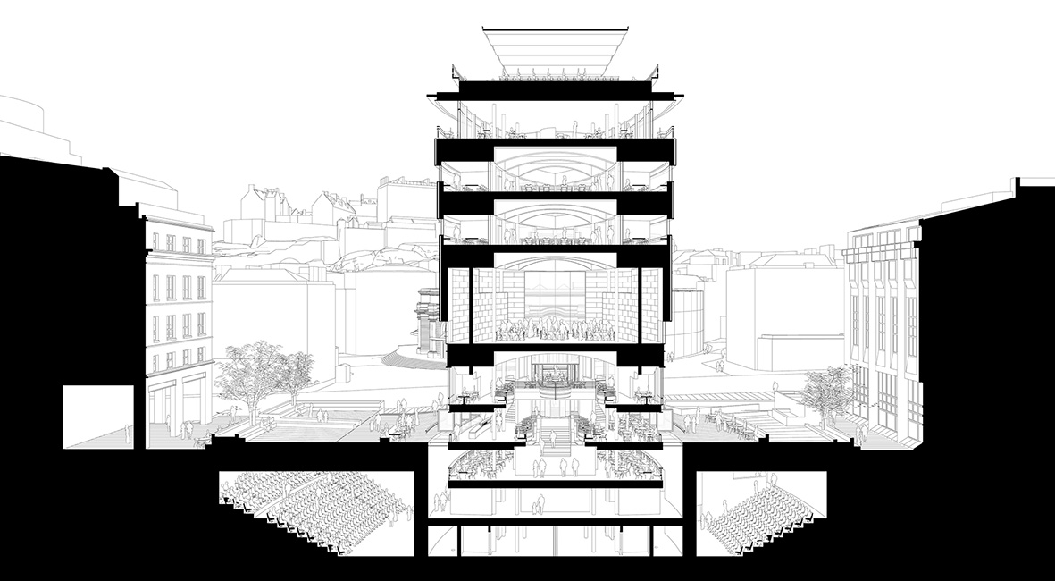 Cross Section of the Proposed New Build